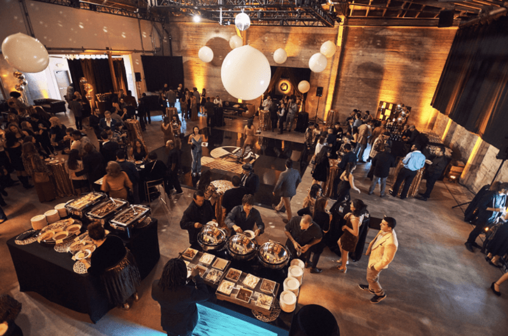 Corporate Party with Food Decor and Roving Entertainment